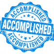 Accomplished blue grunge vintage seal — Stok fotoğraf