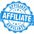 Affiliate blue grunge vintage seal — Stock Photo