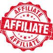 Affiliate red grunge vintage seal — Stock Photo