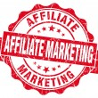 Affiliate marketing red grunge vintage seal — Stock Photo