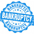 Bankruptcy blue grunge vintage seal — Stock Photo