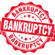 Bankruptcy red grunge vintage seal — Stock Photo