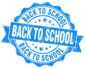 Back to school blue grunge vintage seal — Foto de Stock