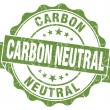 Stock Photo: Carbon neutral green vintage seal isolated on white
