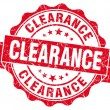 Clearance red vintage seal isolated on white — Stock Photo