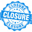 Stock Photo: Closure blue vintage seal isolated on white