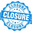 Closure blue vintage seal isolated on white — Stock Photo
