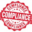 Stock Photo: Compliance red vintage seal isolated on white