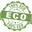 Stock Photo: Eco green vintage seal isolated on white