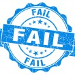 Fail blue vintage seal isolated on white — Stock Photo