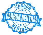 Carbon neutral blue vintage seal isolated on white — Stock Photo