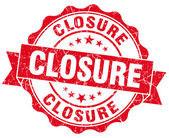 Closure red vintage seal isolated on white — Stock Photo