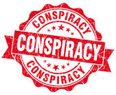 Conspiracy red vintage seal isolated on white — Stock Photo