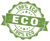 Eco green vintage seal isolated on white — Stock fotografie