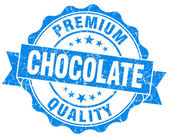 Chocolate blue vintage seal isolated on white — Stock Photo