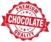 白で隔離されるチョコレートの赤いビンテージ シール — ストック写真