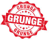 Grunge red vintage round isolated seal — Stock Photo
