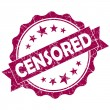 Stock Photo: Censored pink vintage round grunge seal isolated on white background