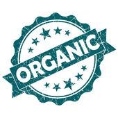 Beyaz arka plan üzerinde izole organik turkuaz vintage yuvarlak grunge mühür — Stok fotoğraf