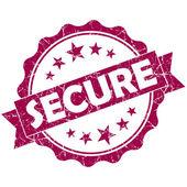 安全粉红色复古圆 grunge 密封隔离在白色背景上 — 图库照片