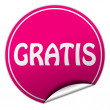 Stock Photo: Gratis round pink sticker on white background