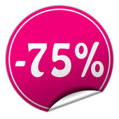 Discount round pink sticker on white background — Stock Photo