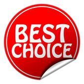 Best Choice round red sticker on white background — Stock Photo