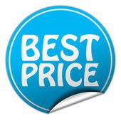 Best price round blue sticker on white background — Stock Photo