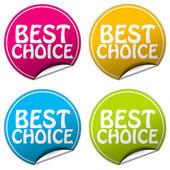 Best Choice round stickers set on white background — Stock Photo