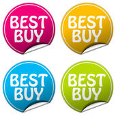 BEST BUY round stickers set on white background — Stock Photo