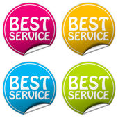 Best service round stickers set on white background — Stok fotoğraf