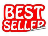 Bestseller red sticker isolated on white background — Stockfoto