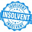 Stock Photo: Insolvent blue grunge seal isolated on white background