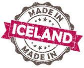 ピンク グランジ シール白い背景で隔離のアイスランドで行われました。 — ストック写真
