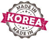 Görs i korea rosa grunge förseglar isoleras på vit bakgrund — Stockfoto