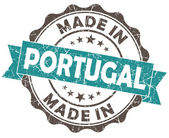 Made in portugal turquoise grunge seal isolated on white background — Stock Photo