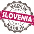 Made in slovenia pink grunge seal isolated on white background — Stock Photo #38917749