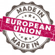 Stock Photo: Made in EUROPEAN union pink grunge seal