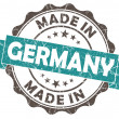Made in GERMANY blue grunge seal — Stock Photo #39264693