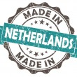 Made in NETHERLANDS blue grunge seal — Stock Photo
