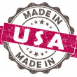 Made in usa pink grunge seal — Stock Photo