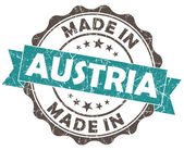 Made in AUSTRIA blue grunge seal — Stock Photo