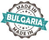 Made in bulgaria blue grunge seal — Stock Photo