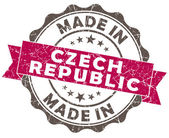 Made in Czech Republic pink grunge seal — Stock Photo