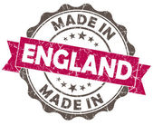 Made in ENGLAND pink grunge seal — Stock Photo