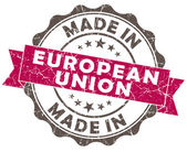 Made in EUROPEAN union pink grunge seal — Стоковое фото