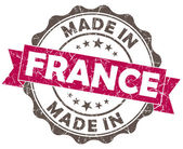 Made in FRANCE pink grunge seal — Stock Photo