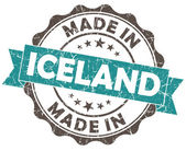 Made in ICELAND blue grunge seal — Stock Photo