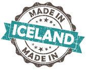 Nel sigillo grunge islanda blu — Foto Stock