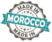 Made in MOROCCO blue grunge seal — Stock Photo